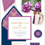 "Inspiration for wedding event branding using Pantone color of the year 2014 ""Radiant Orchid"""