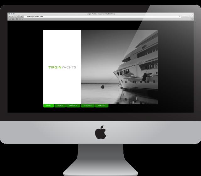 Website Design for Virgin Yachts by After Hours Design Studio