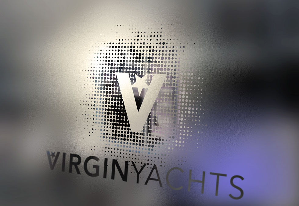 Window sign for Virgin Yachts // afterhoursdesignstudio.com