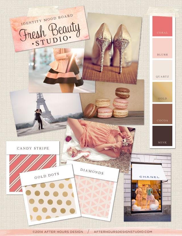 Mood board for Fresh Beauty Studio // by After Hours Design Studio // afterhoursdesignstudio.com
