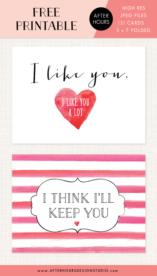 Free Download // Valentines Day Freebie // afterhoursdesignstudio.com