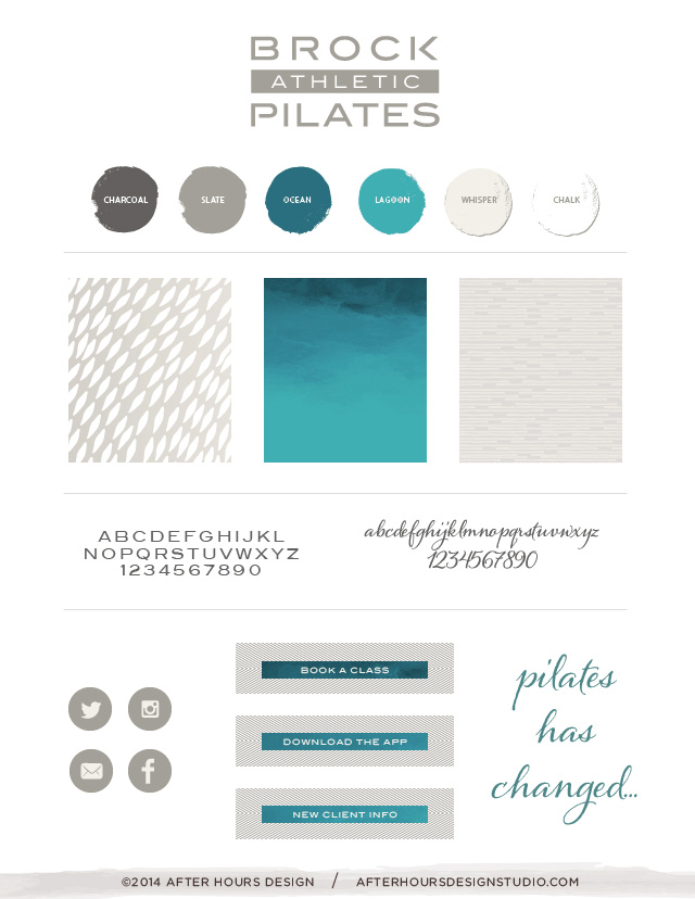 Branding Identity Board for Brock Pilates