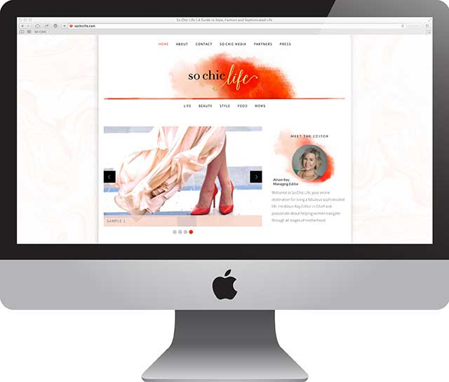 So Chic Life | Website Design